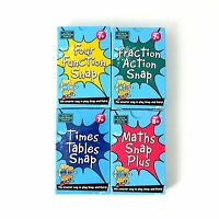 Maths Snap Card Games Four Function Fraction Action Times Table Age 7+