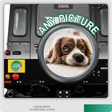 Your Photo / Personalised Spare Wheel Cover 4x4 Laminated Vinyl Sticker RV 5TH