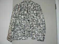 Chicos Black And White Spring/Summer Jacket Size Two
