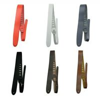 "Perri's 2"" Basic Leather Guitar Strap 6 COLORS Blue Red White Black Brown Tan"