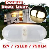 LED Double Interior Dome Light Ceiling Motorhome RV Boat Camper Trailer 12V ++