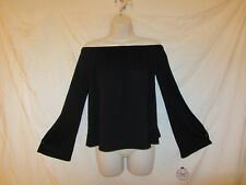 AUTHENTIC AMERICAN HERITAGE  OFF THE SHOULDER BLOUSE SEXY TEE BLACK SZ S NWT