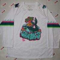 San Jose Sharks Jersey Men's XL White Promo Graffiti NHL Hockey