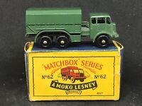 Matchbox Lesney 62 A1 AEC General Service Lorry & Type B4 Box