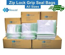 More details for grip seal bag resealable zip lock plastic bags reusable clear poly bag all sizes