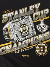 Boston Bruins 2011 Stanley Cup Champion Shirt Ring Med