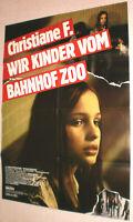 A1 Filmplakat ,CHRISTIANE F. WIR KINDER BAHNHOF ZOO,KAJTJA BRUCKHORST,Berlin