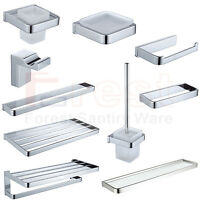 New Luxury Square Bathroom Accessory Set Chrome Brass Wall Mounted High Quality