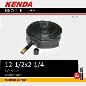 "2 x KENDA 12"" x 12 1/4 - 2 1/4"" Bike Bicycle Tubes - THORN PROOF"