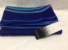 Kensie Ladies Scarf Blue Acrylic Stripe NWT