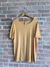 Silent by Damir Doma Men's T-Shirt,  Orange, Size Medium, 100% Cotton Wide Neck