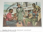 1945 MAGNAVOX advertisement, Stephen Foster, Black musicians, Steamboat banjo