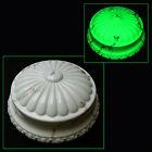 ANTIQUE ART DECO SLAG MARBLED VASELINE GLASS CEILING LIGHT GLOBE SHADE LAMP