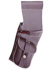TRADITIONAL SYNTHETIC LEATHER  SIDE HIP QUIVER ARCHERY PRODUCTS SAQ119  L/H BRW