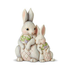 Jim Shore Easter Easter Snuggling Double Bunnies Easter Bunny Figurine 6003624