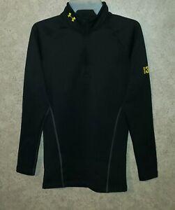 UNDER ARMOUR Coldgear BASE 3.0 Long Sleeve 1/4 Zip Pullover Men's Sz S / Small