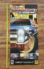 Rockstar Games Midnight Club Dub Edition 2005 Video Game Store Display Poster