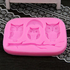 3D DIY Owl And Tree Branch Silicone Cake Mold Fondant Cake Mould New Design