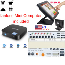 New mini Fanless Pc Pos Point Sale System Combo Retail Restaurant