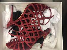 Schutz Juliana Caged Sandal Wine Heeled, New Sz 10