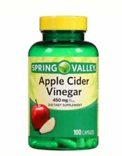 Spring Valley Apple Cider Vinegar 450 mg 100 Capsules Exp 11/22