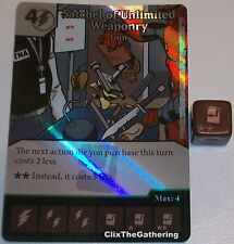Foil SATCHEL OF UNLIMITED WEAPONRY: GUN 73 Deadpool Dice Masters