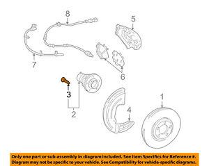 FORD OEM Brake-Front-Wheel Stud 6W4Z1107AA