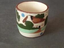 "Motto Ware egg cup ""Torquay Devon Pottery"""