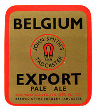 John Smith's The Brewery Ltd BELGIUM EXPORT PALE ALE beer label ENGLAND 9-2/3oz