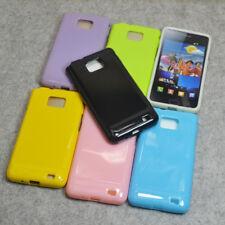 For Samsung Galaxy S2 i9100 i9105 s2 plus Plain Soft Rubber Silicone Case Cover