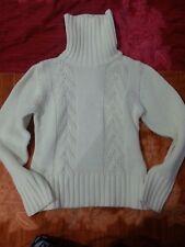 lotto 832 maglia maglione bianco donna collo alto tg.M