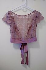 BHLDN Lilac Camille Topper Anthropologie Jenny Yoo Bridesmaid SMALL