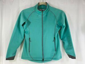 Peter Millar Warmth Element Women's Aqua Long Sleeve Full Zip Jacket Sweater S