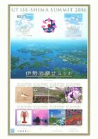 Japan 2016 G7 ISE-SHIMA Summit Part II Special Edition Stamp Sheetlet Mint MUH