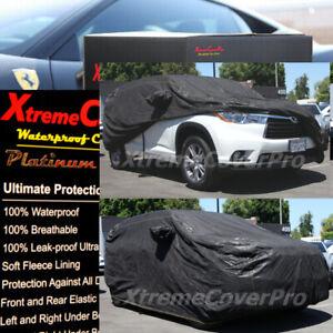 2012 2013 2014 Toyota Highlander Waterproof Car Cover W/MIRRORPOCKET Black