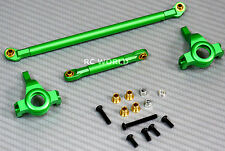Axial SCX10 Jeep Honcho Upgraded Front ALL METAL KNUCKLES + STEERING LINK -GREEN