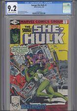 The Savage She Hulk #2 CGC 9.2 1980 Marvel John Buscema Cover: New Frame