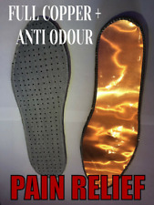 100% Copper insole+Anti Odour,weak blood circulation,joint pain relief,arthritis