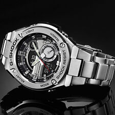 New Casio G-Shock G-Steel Tough Solar Stainless Steel Men's Watch GST-210D-1A
