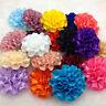 10pcs / 10 Colors satin ribbon big Peony Flower Appliques/Wedding decoration Mix