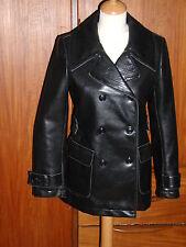 veste comptoir des cotonniers lama faux cuir noir 36