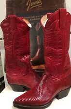 Joma Women's  Western Red Lizard Boots 2324   Size 4.5 M NEW