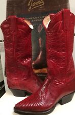 Joma Womens  Western Boots Red  Lizard Size 4.5 M NEW