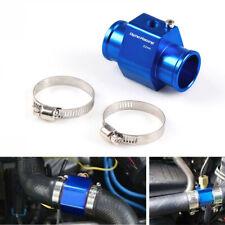 32mm Blue Water Temp Temperature Joint Pipe Sensor Gauge Radiator Hose Adapter