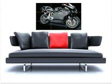"DUCATI 749 MOTORBIKE BORDERLESS MOSAIC TILE WALL POSTER 35"" x 25"" CYCLE"