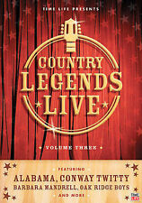 Rare TIME LIFE Country Legends Live DVD Vol. 3 (DVD, 2006) Conway Twitty Alabama