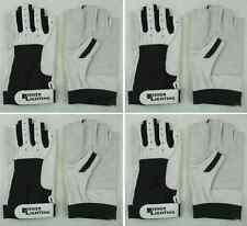 4 Paar Rindsleder Arbeitshandschuhe Gr. M (8) ohne Finger Roadie-Handschuhe NEU