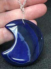 "Geode Agate Druzy Crystal Tibetan Silver 18"" Necklace D-1674"