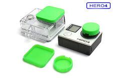 Linsen Schutz f. GoPro HERO 4 Zubehör Lens Cap Protector Abdeckung Kappe Green