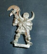 Warhammer Fantasy Games Workshop Oop metal marauder with 2 Handed Axe